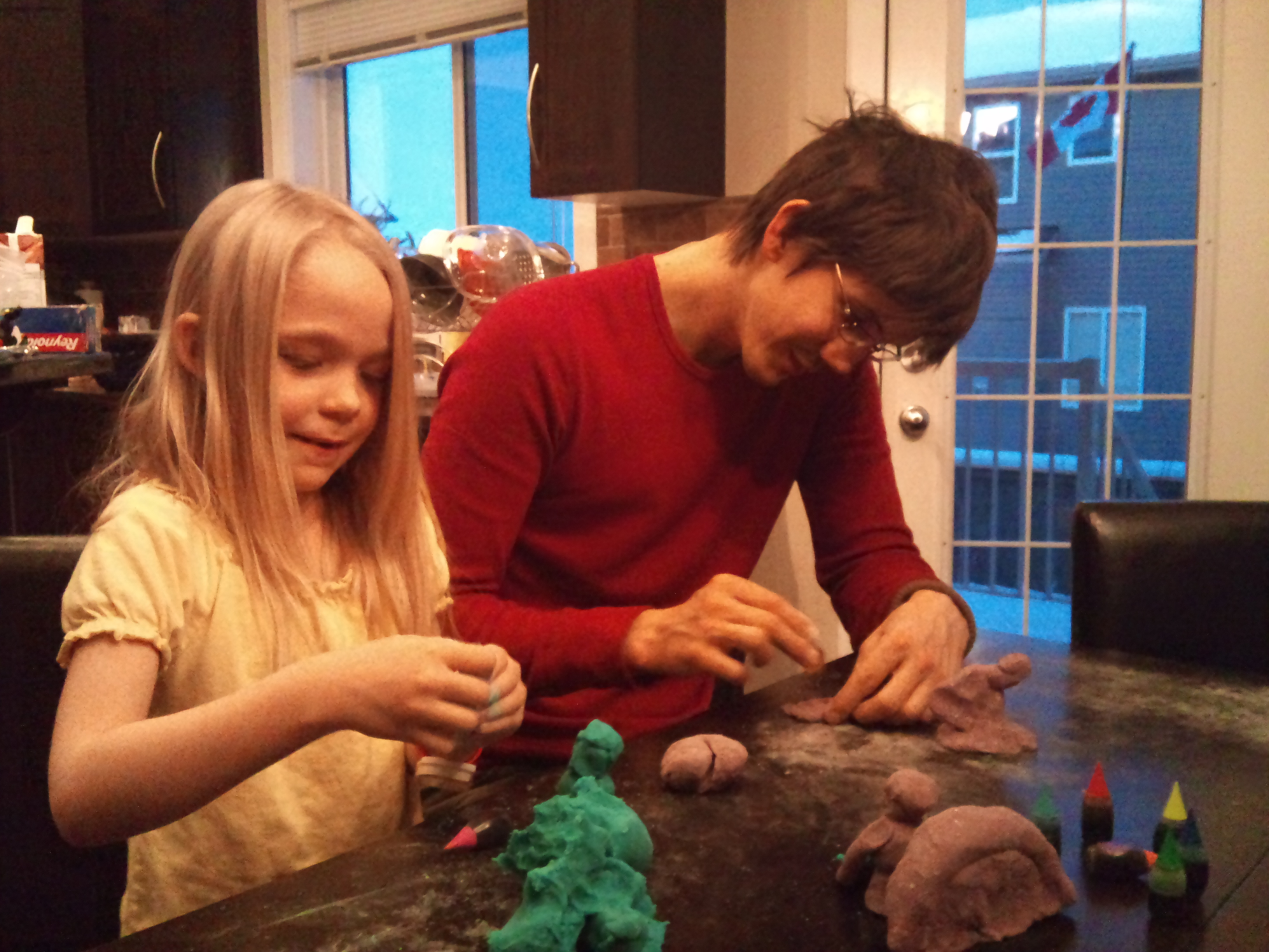 Mike And Sydnie And Playdough Monster