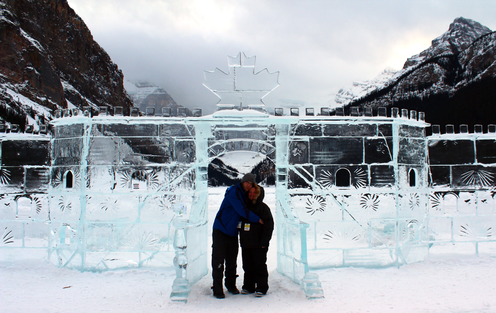 Mike & Cal At The Ice Castle