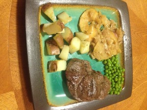 Deer Steak Dinner